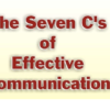 The 7CS of Communication