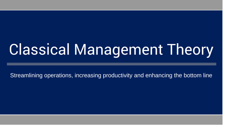 The Role of Management Theories in Workplace - Bohat ALA