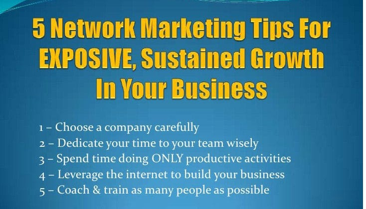 7 – Helpful Network Marketing Tips